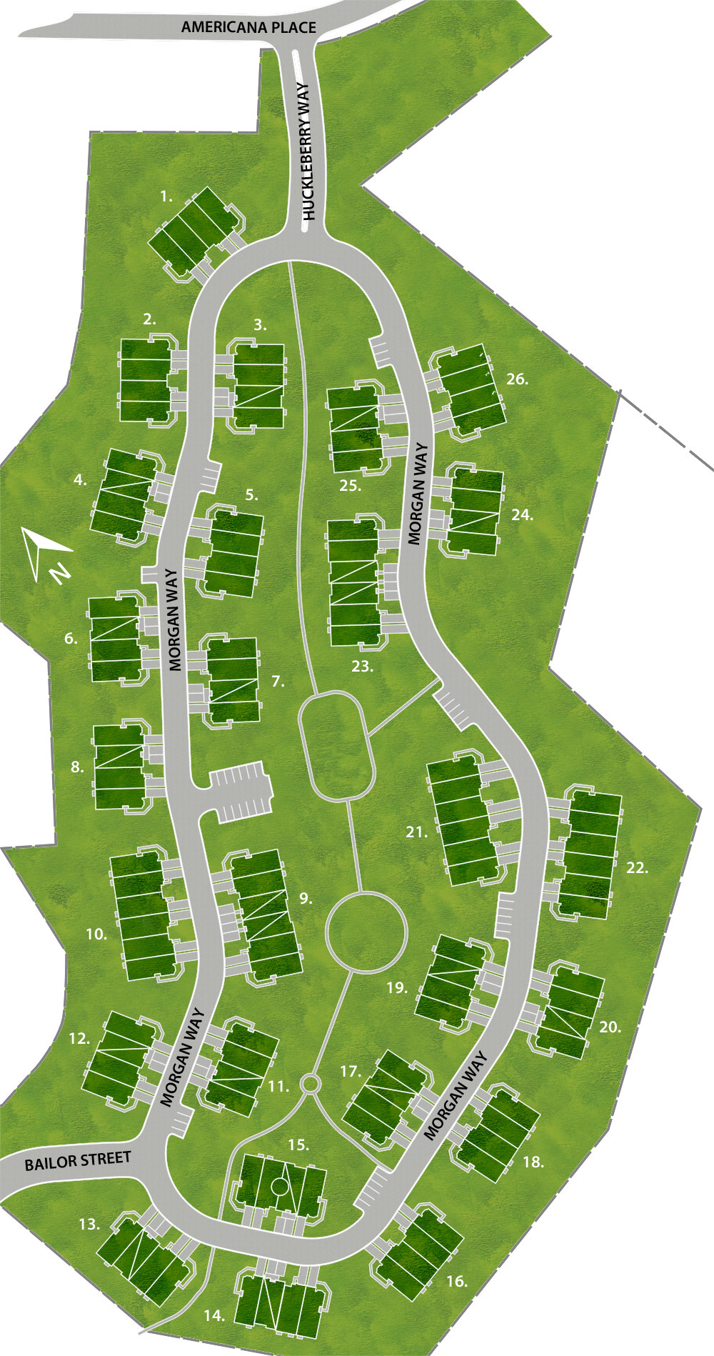 Stratford Meadows New Townhomes Site Map