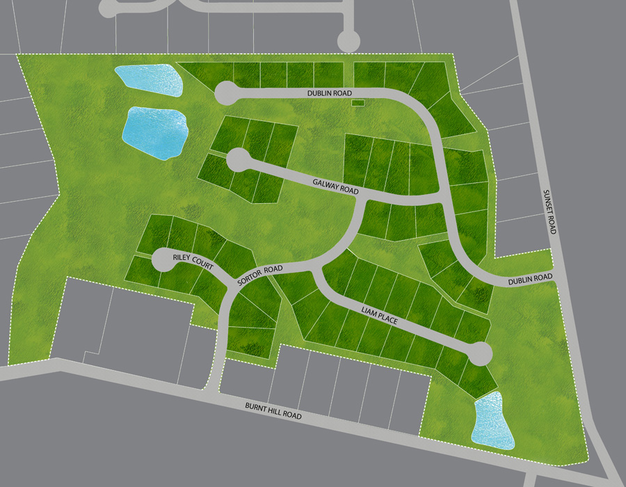 East Country Estates New Homes Site Map