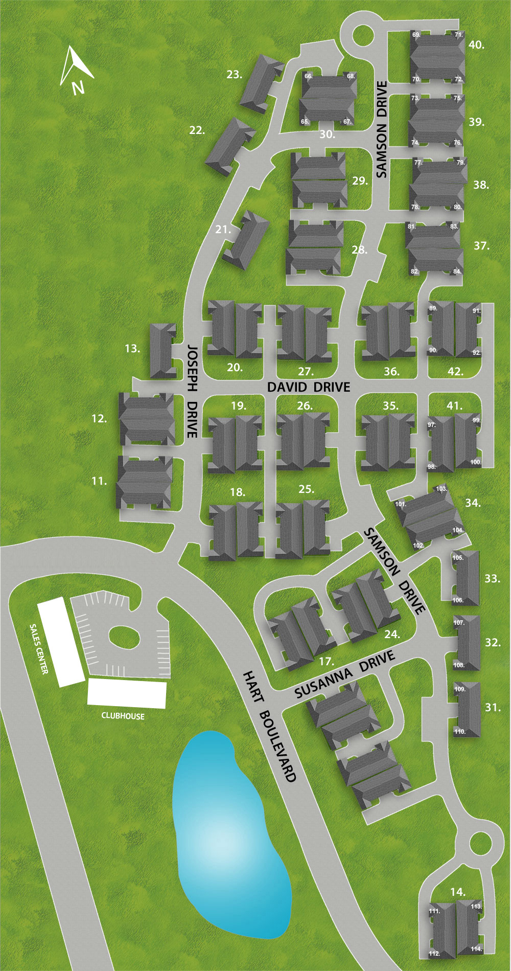 Flemington Fields Villas 55+ Community Site Map