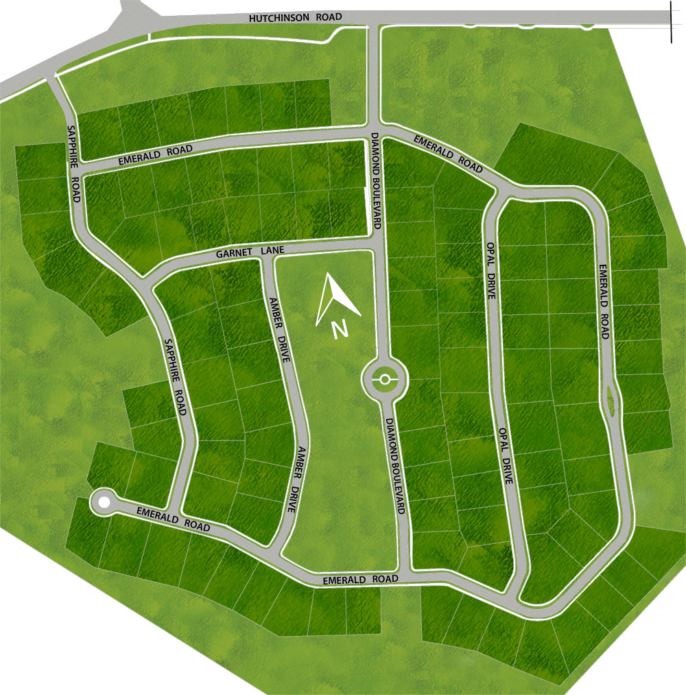 Cubberly Meadows Estates New Homes Site Map